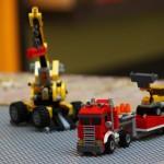 Baumaschinenanfahrt